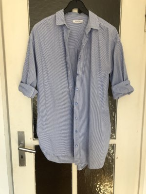 Reserved Shirtwaist dress white-cornflower blue
