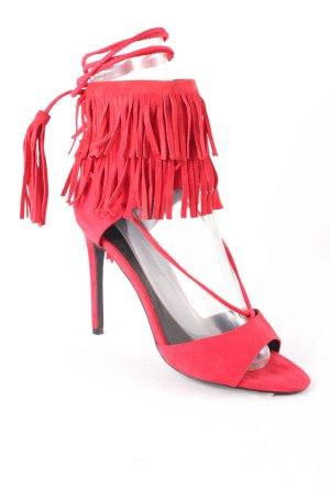 Reserved High Heel Sandal red elegant