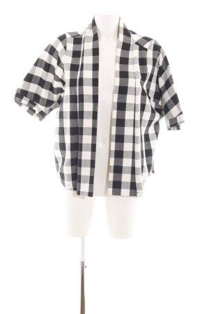 Reserved Kimono schwarz-weiß Allover-Druck Casual-Look