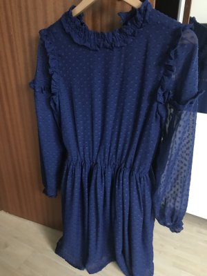 Reserved Kleid blau S M