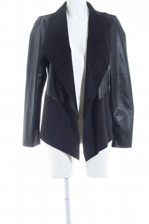 Reserved Kunstlederjacke schwarz Elegant