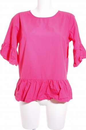 Reserved Kurzarm-Bluse pink Romantik-Look