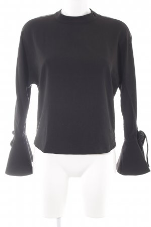 Reserved Langarm-Bluse schwarz-weiß Casual-Look