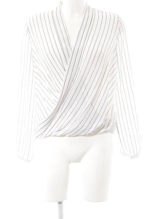 Reserved Langarm-Bluse schwarz-weiß Streifenmuster Business-Look
