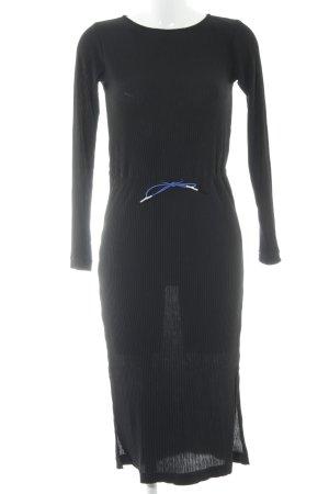 Reserved Langarmkleid schwarz Casual-Look