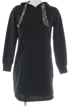 Reserved Langarmkleid schwarz schlichter Stil