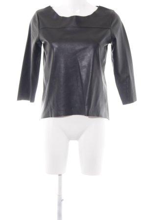 Reserved Lederen blouse zwart elegant