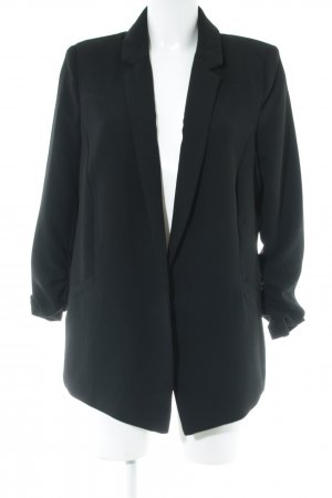 Reserved Long-Blazer schwarz Business-Look