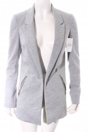 Reserved Long-Blazer hellgrau Street-Fashion-Look