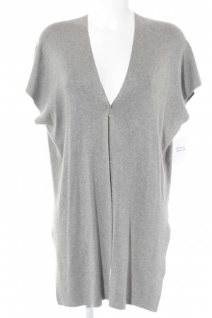 Reserved Long Knitted Vest light grey-grey flecked simple style