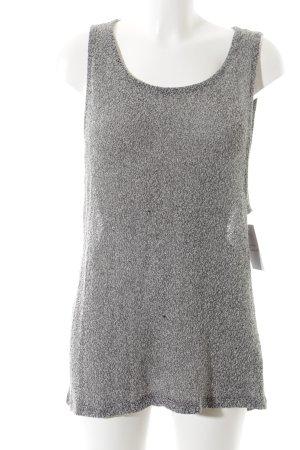 Reserved Longtop schwarz-grau meliert Casual-Look