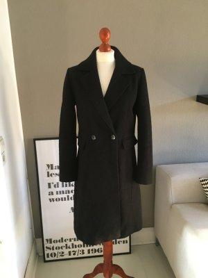 Reserved Mantel Wolle schwarz 38