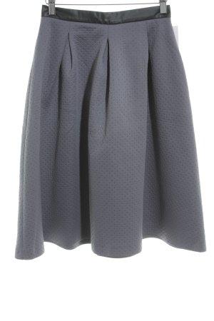 Reserved Midirock graublau-schwarz Casual-Look