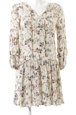 Reserved Minikleid florales Muster Romantik-Look