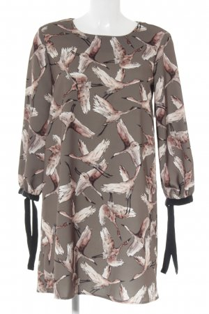 Reserved Mini Dress ocher-beige abstract print casual look