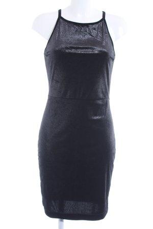 Reserved Minikleid schwarz Glitzer-Optik