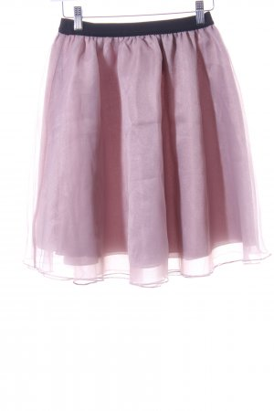 Reserved Minirock rosé-schwarz Eleganz-Look