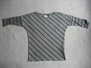 reserved neue bluse gr. s 36 grau streifen