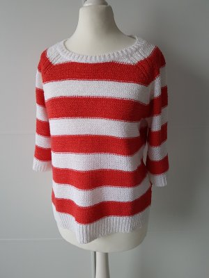 Reserved Pullover all'uncinetto bianco-rosso