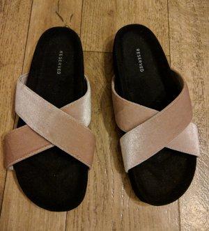 Reserved Sandalias cómodas negro-malva Sintético