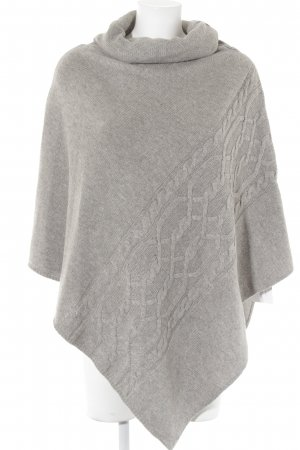 Reserved Poncho light grey flecked casual look