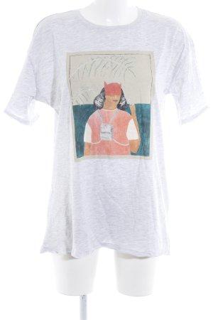 Reserved Print-Shirt hellgrau meliert Casual-Look