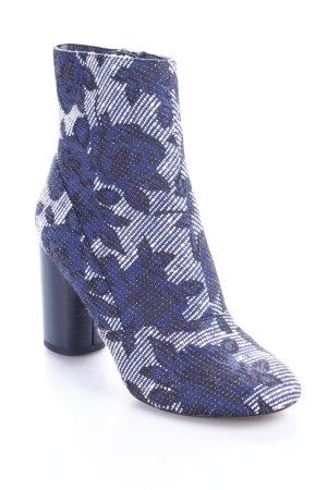 Reserved Reißverschluss-Stiefeletten florales Muster extravaganter Stil