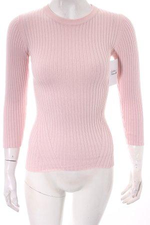 Reserved Rippshirt hellrosa klassischer Stil