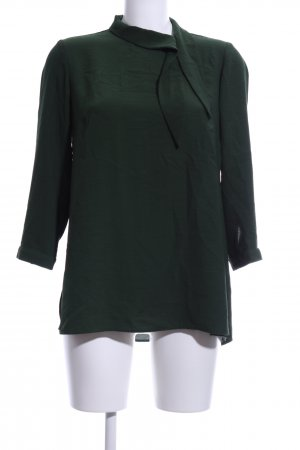 Reserved Tie-neck Blouse forest green business style