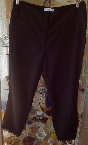 RESERVED Stoff Hose schwarz  mit Spitze