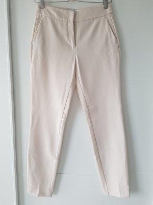 RESERVED Stoffhose, schmale Paßform, Gr.34, hoher Bund, creme/nude