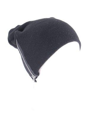 Reserved Chapeau en tricot noir style simple
