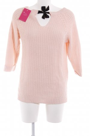 Reserved Strickpullover rosa Casual-Look