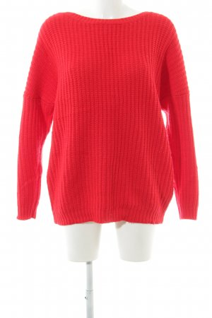 Reserved Strickpullover rot Street-Fashion-Look