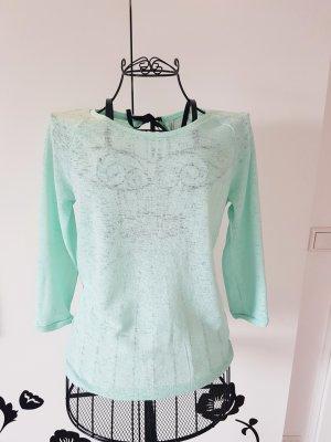 Reserved Camisa tejida menta