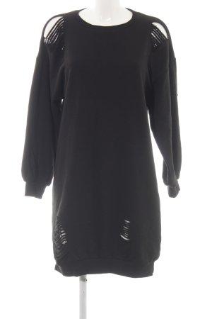 Reserved Sweatkleid schwarz Street-Fashion-Look