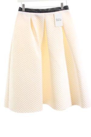 Reserved Tellerrock schwarz-creme Street-Fashion-Look