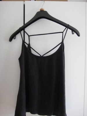 Reserved Spaghetti Strap Top taupe-anthracite