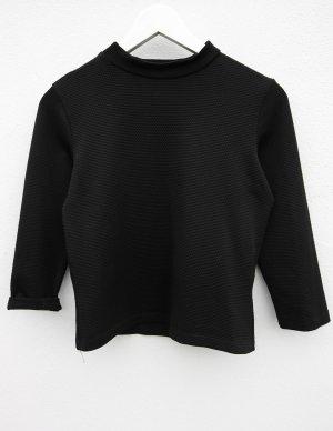 Reserved Top Kragen elegant Hemd schwarz black Tshirt blogger vintage Muster