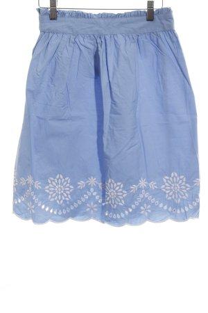 Reserved Tulpenrock blau-weiß Blumenmuster Casual-Look