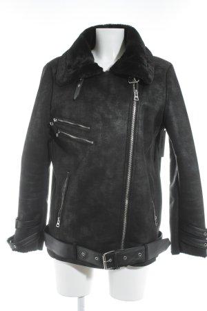 Reserved Between-Seasons-Coat black biker look