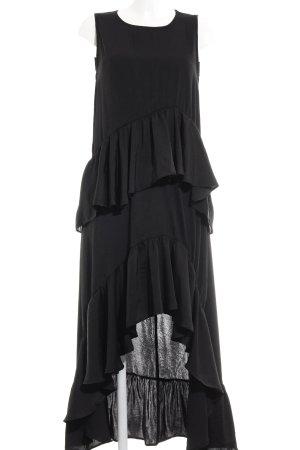 Reserved Jurk met langere achterkant zwart elegant
