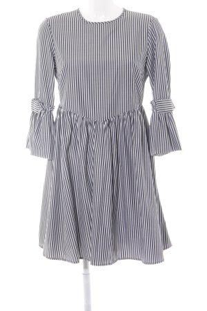 Reserved Volantkleid taupe-wollweiß Streifenmuster Street-Fashion-Look