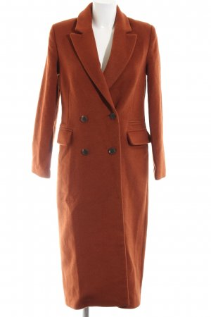Reserved Wollmantel hellorange Business-Look