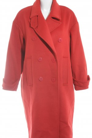 Reserved Wollmantel rot Casual-Look