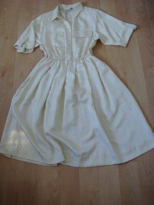 Vintage Abito blusa camicia beige chiaro Fibra sintetica