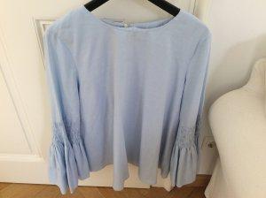 Zara Blusa azul neón Algodón