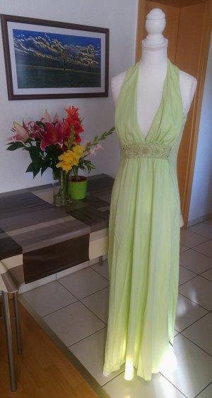 RESERVIERT! Vintage 60s Jersey Kleid maxikleid set bestickt couture
