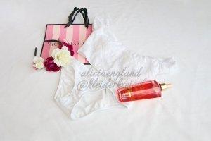 Weißer Victoria's Secret Bikini mit Spitze
