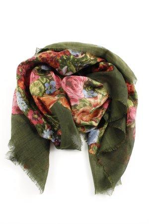 Resi Hammerer Halstuch khaki Blumenmuster Vintage-Look